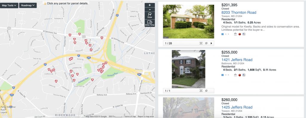 Thornleigh Home sales 21093 21204